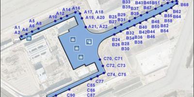 Mapa Terminal 1 Barcelona.Barcelona Mapa Mapa Barcelona Catalonia Espanya
