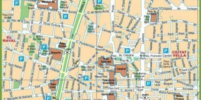 Mapa De Barcelona Calles.Barcelona Mapa Mapa Barcelona Catalonia Espanya